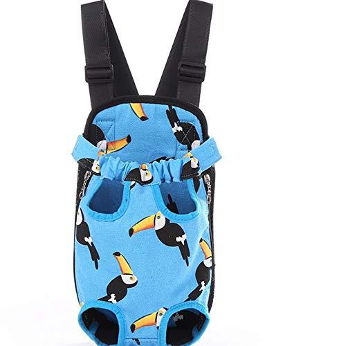 DJG Hunderucksack Pet Pack Outing Pet Chest Rucksack Tragetasche Pet Bag Easy-Fit für Reisen Wandern Camping für kleine mittlere Hunde-Blau,M