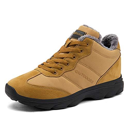 TORISKY Hombre Mujer Botas de Nieve Invierno Aire Libre Zapatos Impermeable Antideslizante Calientes Botines Planas 36-46EU(606-Yellow39)