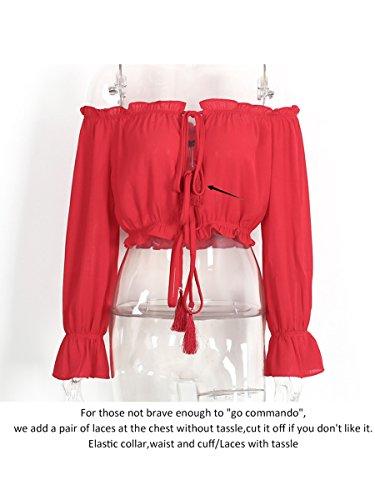 Simplee Apparel - Robe - Évasée - Femme rouge 1