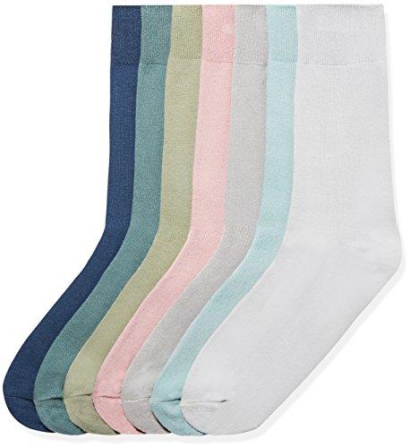 Herren Rosa Anzug - find. Herren Socken 7er-Pack, Mehrfarbig (Mix