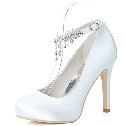 L@YC Pattini Di Cerimonia Nuziale Delle Donne Primavera / Estate / autunno Tacchi alti E Serata Brillante Wedding / Party White