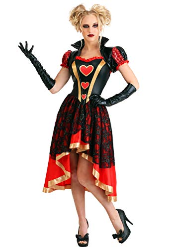 Wonderland Alice Kostüm On - Women's Dark Queen of Hearts Fancy Dress Costume X-Small