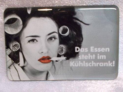 Preisvergleich Produktbild Essen im Kühlschrank Magnet 8, 5 x 5, 5 cm Bild Kühlschrankmagnet Deko GGV 1042