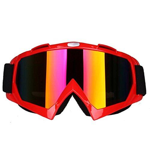 Motocross-Brille Anti-Sand-Brille Anti-Impact Ski Brille Klettern Spiegel , red 1