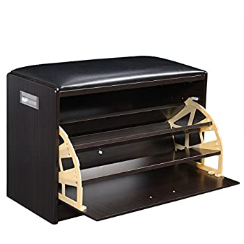 fds wooden shoe seat cabinet ottoman bench entryway. Black Bedroom Furniture Sets. Home Design Ideas