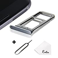 EMiEN SIM Card Tray Slot Holder Replacement for Samsung Galaxy S7 G930 + SIM Card Tray Open Eject Pin YCONAMZPTNB5038