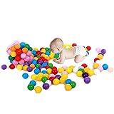 QHDZ tragbar Ocean Balls für Bällebad, 20 Stück Bunte Kunststoff Ocean Ball Baby Kinder Spielzeug Swim Pit für Camping
