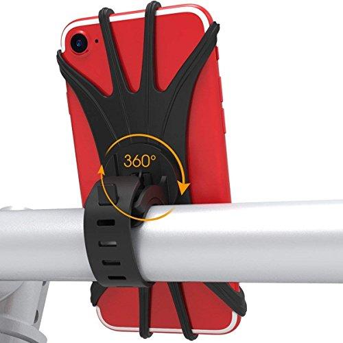 Fahrrad Handyhalterung Handy Halter mit 360° Drehbare Verstellbar 4-6,0 Zoll Geräte für Smartphone Universal iPhone X/8/7/6s/6/5S/5/4s Plus,Montage am Lenker Vorbau,Handyhalter,Rennrad Mountainbike Motorrad