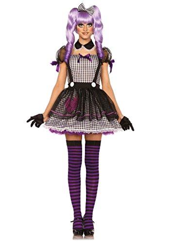 Erwachsenen Doll Kostüme Broken (Karneval Klamotten Horror Puppe-n Kostüm Damen Luxus Halloween Puppenkleid Damenkostüm Größe)