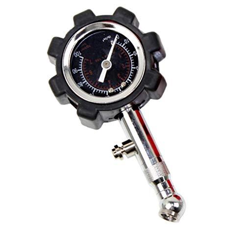 Hycy® Digitale Autoreifen Manometer Tester LCD PSI KPA BAR Hohe Präzision Pneumatische Messgerät Für Auto LKW Motorrad Bike,Black -