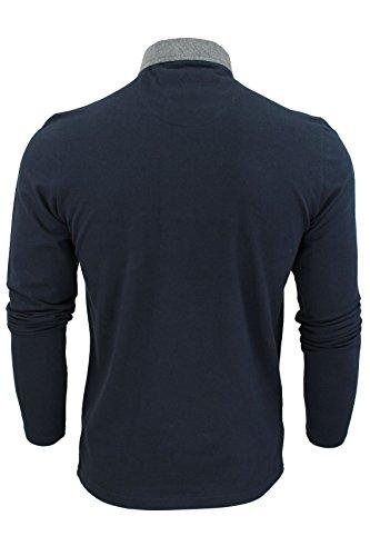 Brave Soul Herren Poloshirt, Einfarbig blau blau One size Navy