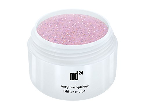 Acryl Farbpulver Glitter malve ROSA - nd24 BESTSELLER - Feinstes FARB Acryl-Puder Acryl-Pulver...