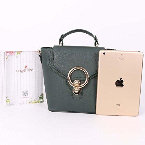 ZOCAI Zaino di cuoio delle donne il giorno casuale lo stile classico piccolo squisito signora borsa M019 Verde