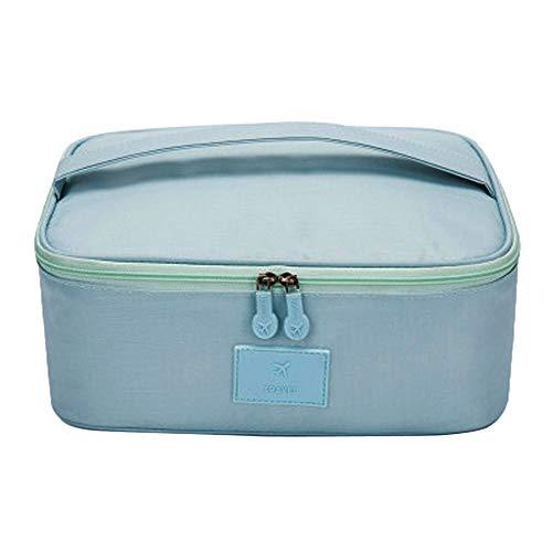 Yazidan Multi-Grid-Reise-Aufbewahrungsbox Große tragbare Wasserdichte Klassifizierungs-Kosmetiktasche Damen BZW. Mädchen Make-up-Tasche, Kulturbeutel, Wasch-, für Das Beispiel Make-up Pinsel