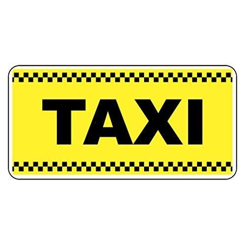 Taxi Gelb Retro Vintage Stil Metall Schild-20,3x 30,5cm mit Löchern