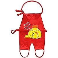 WLG Tipo de Chaleco de bebé Bellyband Conjunta Verano Algodón Sección Delgada 0-18 Meses bebé Hombres y Mujeres bebé Universal,Rojo,73cm