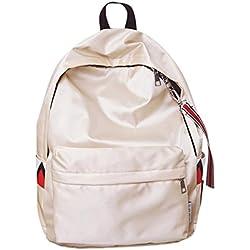 mochilas escolares juveniles impermeable Sannysis bolsos mujer mochila pequeñas casual viaje mochilas mujer pequeñas baratas Satchels Bolsas de hombro (Beige)