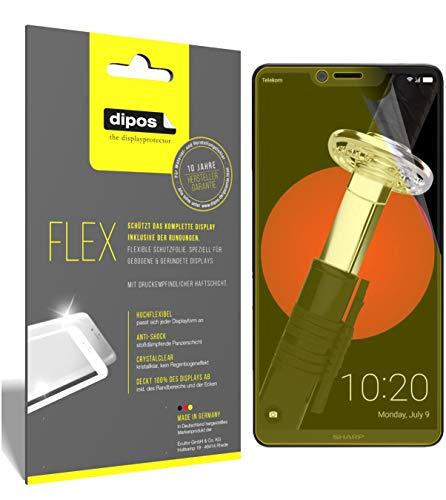 dipos I 3X Schutzfolie 100prozent passend für Sharp Aquos D10 Folie (Vollständige Bildschirmabdeckung) Bildschirmschutzfolie