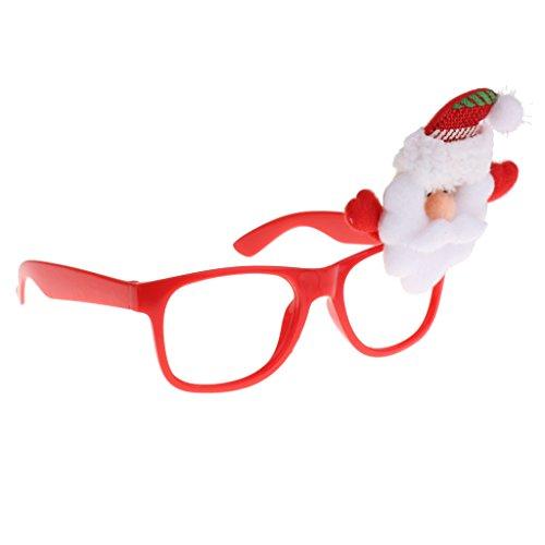 C2K Christmas Glasses Frames Xmas Decor Novelty Fancy Dress Party Props - Santa Claus B