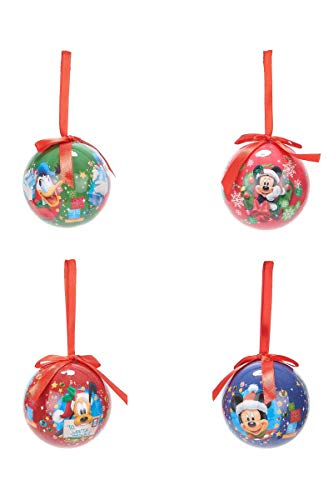 Set di 4 palle di natale disney mickey multicolor
