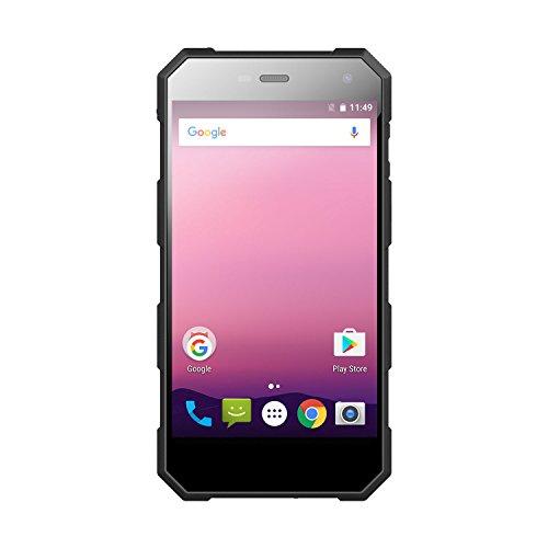 Smartphone Ohne Vertrag Unterwasser Kamera,Wasserdichtes Telefon schroffer Smartphone International freigesetzter IP68 5.0 Zoll FHD Android 7.0 4G Doppelter Sim 3G RAM 32G ROM 5.0MP + 8.0MP Doppelkamera 5000mAh Batterie Nomu S10 Pro (Schwarzes)