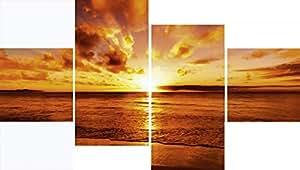 Artland haute glasbilder verre image maximum de 4 photographie mer idizimage: beautiful de soleil tropical on the beach dimensions: 60 x 30 cm-nord