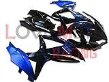 LoveMoto Verkleidung für GSX-R600 GSX-R750 K8 2008 2009 2010 08 09 10 GSXR 600 750 ABS Spritzguss Kunststoff-Motorradverkleidung-Sets Blau Schwarz