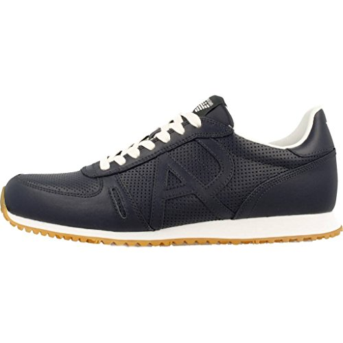 AJ Armani Jeans 935027 7P423 Sneakers Herren Leder Blau