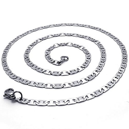 Acier Inoxydable Collier, Femme Colliers Pendentif Argent 14-40 Inch 2.2Mm Epinki 22 Inch