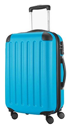 HAUPTSTADTKOFFER® Hartschalen Koffer SPREE 1203 · SET · MATT · TSA Zahlenschloss · + GEPÄCKGURT (Burgund) Cyan Blau