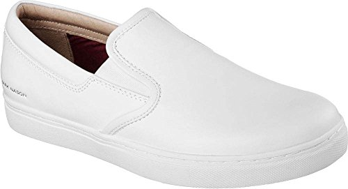 Skechers Mark Nason Los Angeles Gower Slip On 68509-WHT Herren Schuhe Weiß Gr. EU 47.5 UK 12 - Mark Skechers Nason