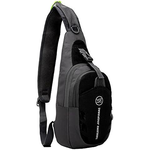 G7Explorer Lithe Breathable Multi Purpose Waterproof Chest Bag Sling Shoulder Backpack (Black)