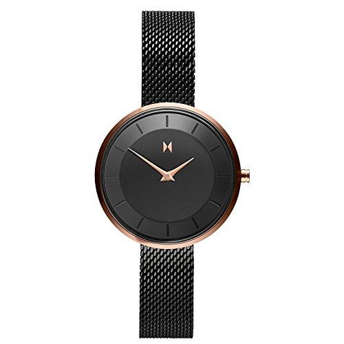 MVMT Damen Analog Quarz Uhr mit Edelstahl Armband D-FB01-BL