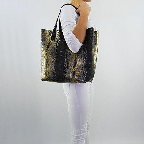 Patrizia Pepe shopping bag phyton multicolor