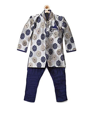 AJ Dezines Boys Indo Western Sherwani Suit for Kids (7001_GREY_2)
