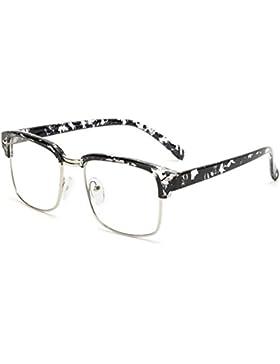 Huicai Bloqueo de gafas Blu-ray Lentes transparentes semi-sin marco Hombres y mujeres Gafas de computadora