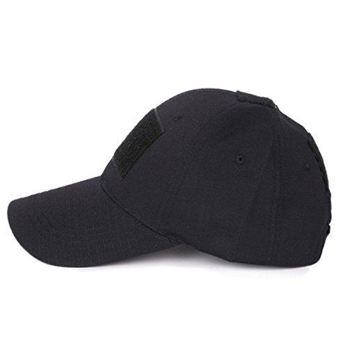 COZYJIA Casquette de Baseball, Chapeau de Protection Solaire Multicolore pour Airsoft Paintball Climb Camping Chasse en Plein air (Noir)