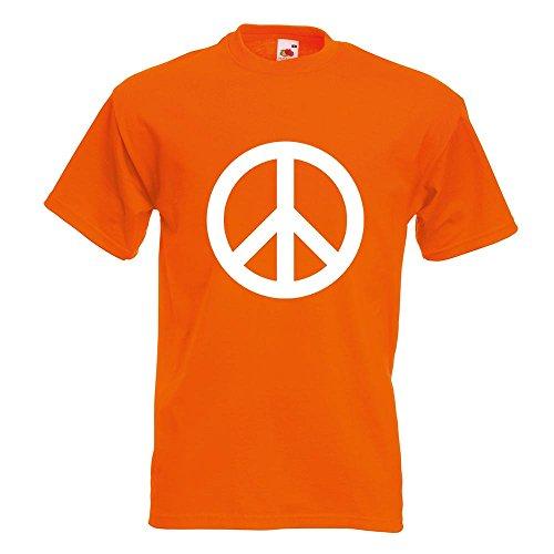 KIWISTAR - Peace T-Shirt in 15 verschiedenen Farben - Herren Funshirt bedruckt Design Sprüche Spruch Motive Oberteil Baumwolle Print Größe S M L XL XXL Orange