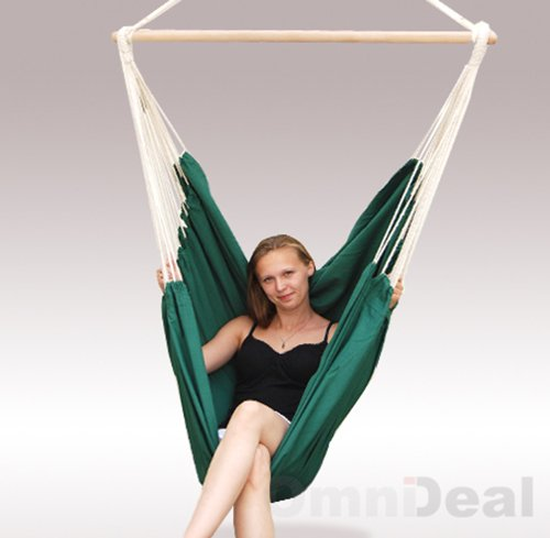 AMANKA XXL Swing Chair 185×130 it rotates 360° Hanging Seat made of cloth Beige