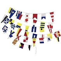 Brass Blessing Banderines de Señal Naval – 40 banderines – 38 pies – 100% Algodón – Náutico/Barco/Playa Fiesta (5178)