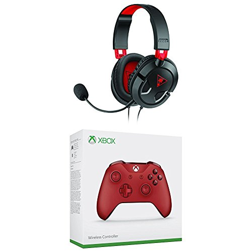 Turtle Beach Recon 50 Stereo Gaming Headset (PC, PS4, PS4 Pro, Xbox One S, Xbox One) + Offizieller Xbox Wireless Controller- rot