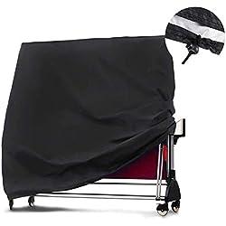 WENYAO Housse de Table de ping-Pong Robuste - Housse imperméable de Protection pour Table, de Table de ping-Pong, 65 x 28 x 73 Pouces, Noir