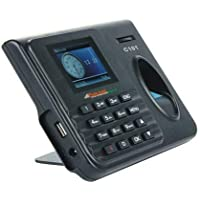 Universal Prime Realtime C101 Biometric Attendance Machine with USB Excel (Black)