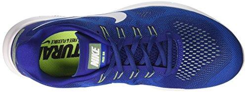 Nike Free Run 2017, Scarpe En Cours D'exécution Uomo Blu (deep Royal Blue / White Soar Spooky Green)