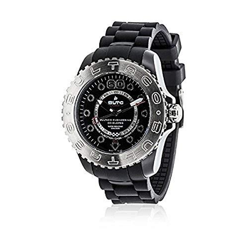 Bultaco BLPB45A-CB2 - Reloj con correa de nylon para hombre, color blanco/gri