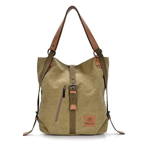 MEKEET Damen Rucksack Handtaschen Geldbeutel Multifunktionale Umhängetasche 3 in 1 Verformbar Tote Bag gewaschen Ledertasche - Rucksack-geldbeutel-handtasche