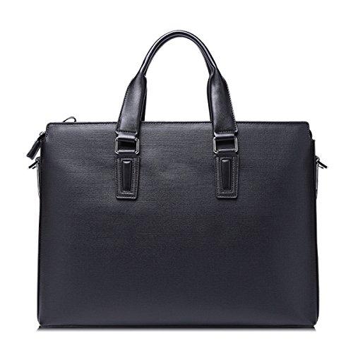 Männer Erste Schicht Von Leder Business Herren Handtasche Herren Tasche Schulter Messenger Bag Horizontale Abschnitt Offizielle Business Computer Tasche Black
