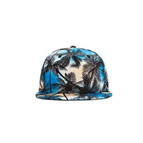 SADUZI Baseballmütze Baseballmütze Floral Snapback Hip Hop Cap Damen Herren Graffiti Baseball Cap, Blau, Orange