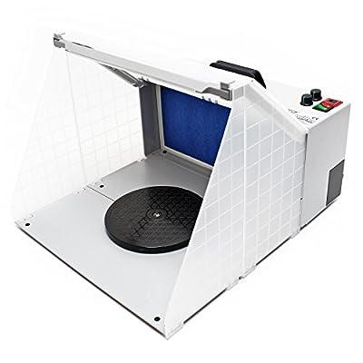 Airbrush Farbnebel Absauganlage 4m³/min Beleuchtung Absaugung Filterung regelbar von WilTec bei TapetenShop