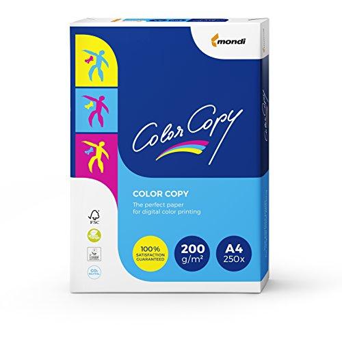 festes papier Mondi Color Copy Farbkopierpapier/2382010051 A4 weiß geriest 200 g/qm Inh.250